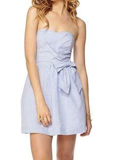 Lilly Pulitzer Henrietta Seersucker Strapless Sweetheart Dress