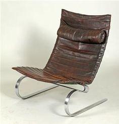 Poul Kjærholm 1929-1980. PK-20, brown leather