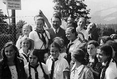 Adolf Hitler and BDM girls