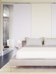 Elegant minimal bedroom. Minimalist style is one of the crowning architectural achievements of the 20th century. Minimalism is charming in almost any space. Simplicity and elegance in furniture and decor choices. Check out http://www.pinterest.com/homedsgnideas/ for more amazing ideas.