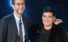 """Maradona su Rai 3: """"Vorrei allenare il Napoli, in azzurro emozioni irripetibili"""" #maradona #napoli #fazio"""