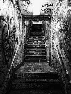 Graffiti Stairwell ~ Soho, NYC 2013 (iP5) #weryoo #graffiti #GigiStoll