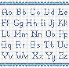 Illustration about Vector set of cross-stitched letters. Illustration of embroidered, alphabet, cross - 47863577 Cross Stitch Alphabet Patterns, Embroidery Alphabet, Cross Stitch Letters, Cross Stitch Designs, Embroidery Patterns, Stitch Patterns, Cross Stitch Font, Crochet Alphabet, Cross Stitch Numbers