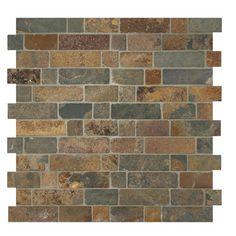MS International Random Sized Slate Mosaic Tile in California Gold