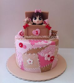 Patchwork and Toy box cake