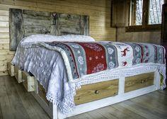 testata letto in legno riciclato - Cerca con Google | Beds ...