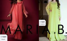 latest maria b eid collection 2013 double shirt frock in pakistan Maria B Eid Collection 2013 for Women & Girls