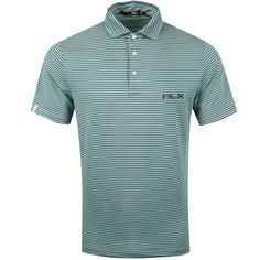 This surplus-inspired Polo shirt's lightweight stretch jersey not only wicks away moisture but also provides UPF 35 protection from UV rays. Essex Green, Polo Blue, Striped Jersey, Pacific Blue, Golf Shirts, Lacoste, Inspired, Mens Tops