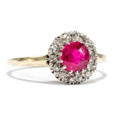 Pink Panther - Antiker Ring mit pinkem Saphir nach Verneuil, um 1910. Photo © 2015 Hofer Antikschmuck Berlin
