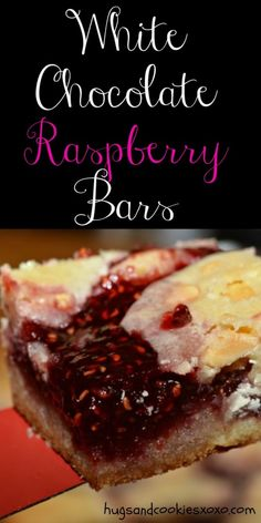 White Chocolate Raspberry Bars