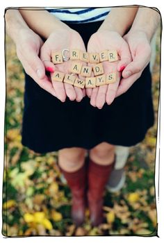Cute idea for engagement picture