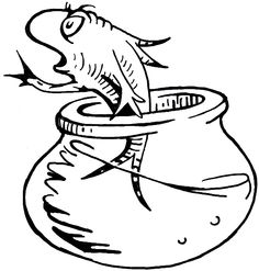 how to draw the fish from the cat in the hat dr seuss book - Dr Seuss Coloring Pages Printable