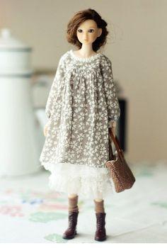SugarBabyLove Brown dress set for Momoko par SugarbabyloveDoll