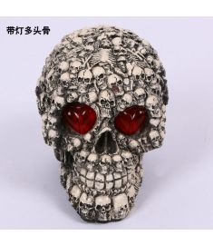 Halloween decoration skulls toys horror funny spoof tugs the whole props resin luminescent wholesale YTCR0377