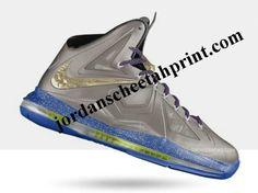 Nike Lebron X Metallic Silver Aqua Grey