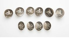 Silver buttons by Malcolm Appleby