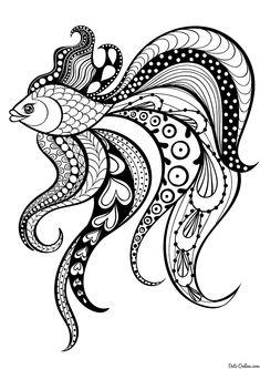 шаблон для росписи тарелки рыбки, животные: 9 тыс изображений найдено в Яндекс.Картинках