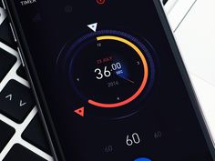 Timer designed by Renat Muratshin 🚀. Connect with them on Dribbble; Interface Design, User Interface, Ui Design, Graphic Design, App Ui, Ui Ux, Ui Inspiration, Wireframe, Mobile Ui