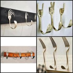 Upcycled forks = creative hangers!  COOL!
