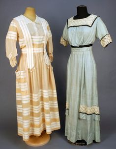 TWO SUMMER DRESSES, c. 1915 by selma
