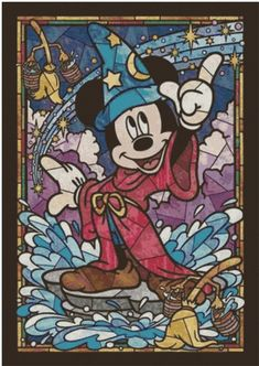Tenyo Stained Art 266 piece Disney Mickey Mouse Stained Glass from Japan shopping service. Disney Mickey Mouse, Disney Pixar, Art Disney, Disney Kunst, Disney Magic, Disney Characters, Classic Mickey Mouse, Fantasia Disney, Disney Mignon
