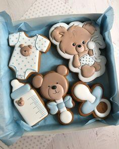 Sugar Cookie Icing, Sugar Cookies, Baby Shower Cookies, Iced Cookies, Babe, Baby Theme, Sweet, Desserts, Crack Crackers