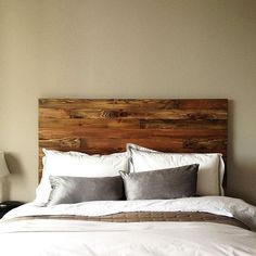 """""""It's a good morning. The rustic charm of this cedar wood headboard from @urbanbillygoods creates happy mornings."""""""