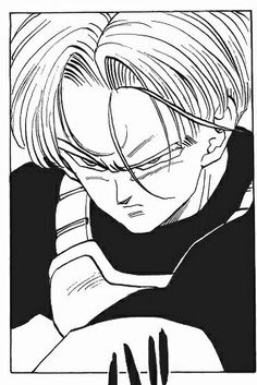 He is way too handsome! <3 #Trunnks #DBZ But for some reason DBS Trunks looks rather.. Meh...am I the only one who feels that way?