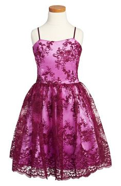 Un Deux Trois Floral Lace Dress (Big Girls)...Very pretty, we need more occasions for our teen girls to dress this way.