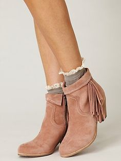 pink suede cowboy boots x