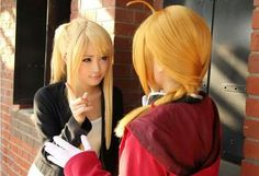 Winry Rockbell and Edward Elric Cosplays. This is too cute! :3