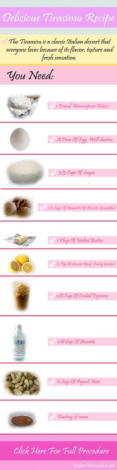 Delicious #Tiramisu #Dessert #Recipe : http://italianmenuideas....