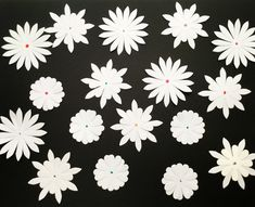 SALE! -20 Handmade Flowers: white flowers - flower Embellishments  - 3D Flower - paper flowers - scrapbooking - wedding table decor by Wcards on Etsy