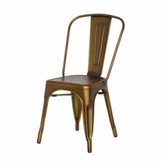 Metropolis Metal Side Chair, Brushed Copper/938233-BC