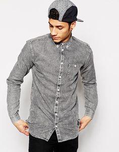 Enlarge Minimum Shirt in Washed Black Denim