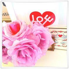 Roses roses pour la Saint Valentin.