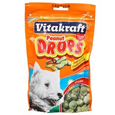 Vitakraft Drops Dog Treats - Dog - PetSmart (we've gotten: Yogurt, peanut butter, & carob) Always the top hit in our home!!