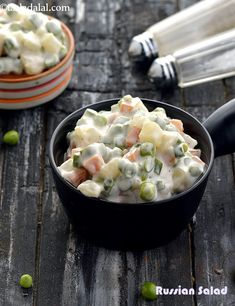 Russian salad recipe, vegetarian russian salad - Home Office - Salade Recept - Fitness Vegetarian Salad Recipes, Healthy Recipes, Veg Recipes, Healthy Salads, Indian Food Recipes, Cooking Recipes, Ethnic Recipes, Jain Recipes, Mini Hamburgers