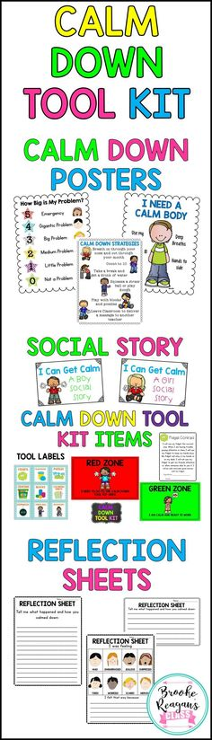 Calm Down Tool Kit for behavior management in the classroom.
