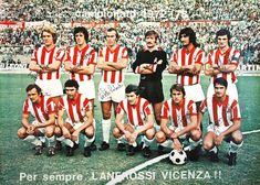 Vicenza team group in 1972.