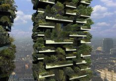 A Milan Skyscraper With A Forest Inside It