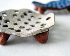 Black Soap Dish-Ceramic Soap Dish-Pottery Soap by Vsocks on Etsy