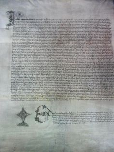 The marriage certificate of Henry VIII and Katherine Parr, dated 12 July, 1543.
