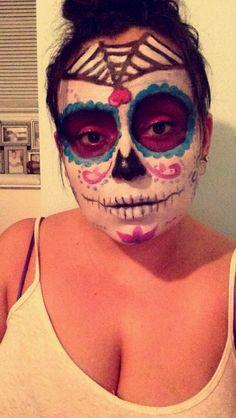 Sugar skull Halloween makeup by me