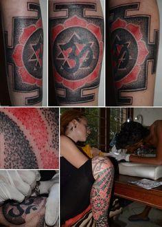 yantra/mandala dotwork tattoo... by NimzTattooz #TraditionalArt  #BodyArt #BodyModification #mandala #yantra #dottattoo #nimztattooz #epictattoo #indiantattoo