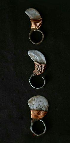 Thumb ring knife from the Turkana tribe Kenya..