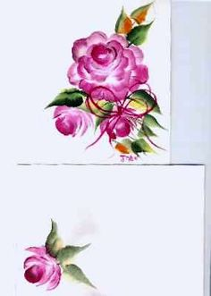 One Stroke Painting of Gorgeous Flowers Course - Rose Card