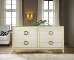 Modern History Abstract Dresser in Cream