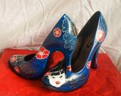 ESCARPINS STILETTOS CUSTOMISES GEISHA JAPON : Chaussures par customstiletto