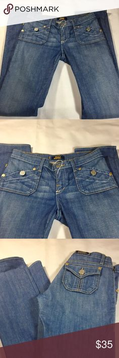 Rare Rock & Republic jeans Rare Rock & Republic jeans with light blue denim long straight legs Rock & Republic Jeans Straight Leg